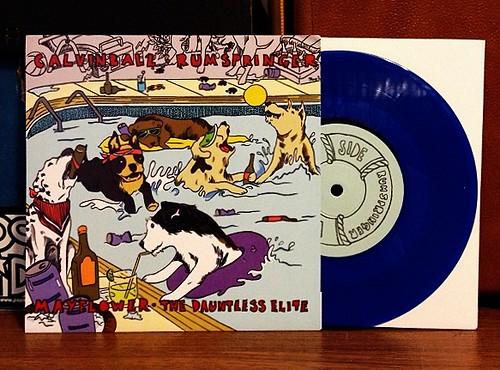 """Calvinball / Rumspringer / Mayflower / Dauntless Elite - 4 Way Split 7"""" - Blue Vinyl (/500) by Tim PopKid"""
