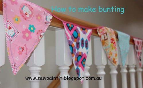 sew paint it how to make bunting. Black Bedroom Furniture Sets. Home Design Ideas