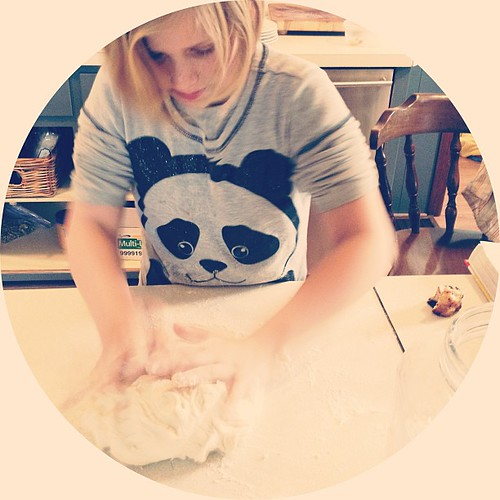 Today she makes sesame seed buns. #jessicabakesbread