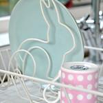 Bunny dish drainer