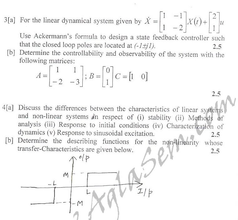 DTU Question Papers 2010 – 8 Semester - Mid Sem - EE-412