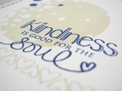 Kindness is Good for the Soul (detail)