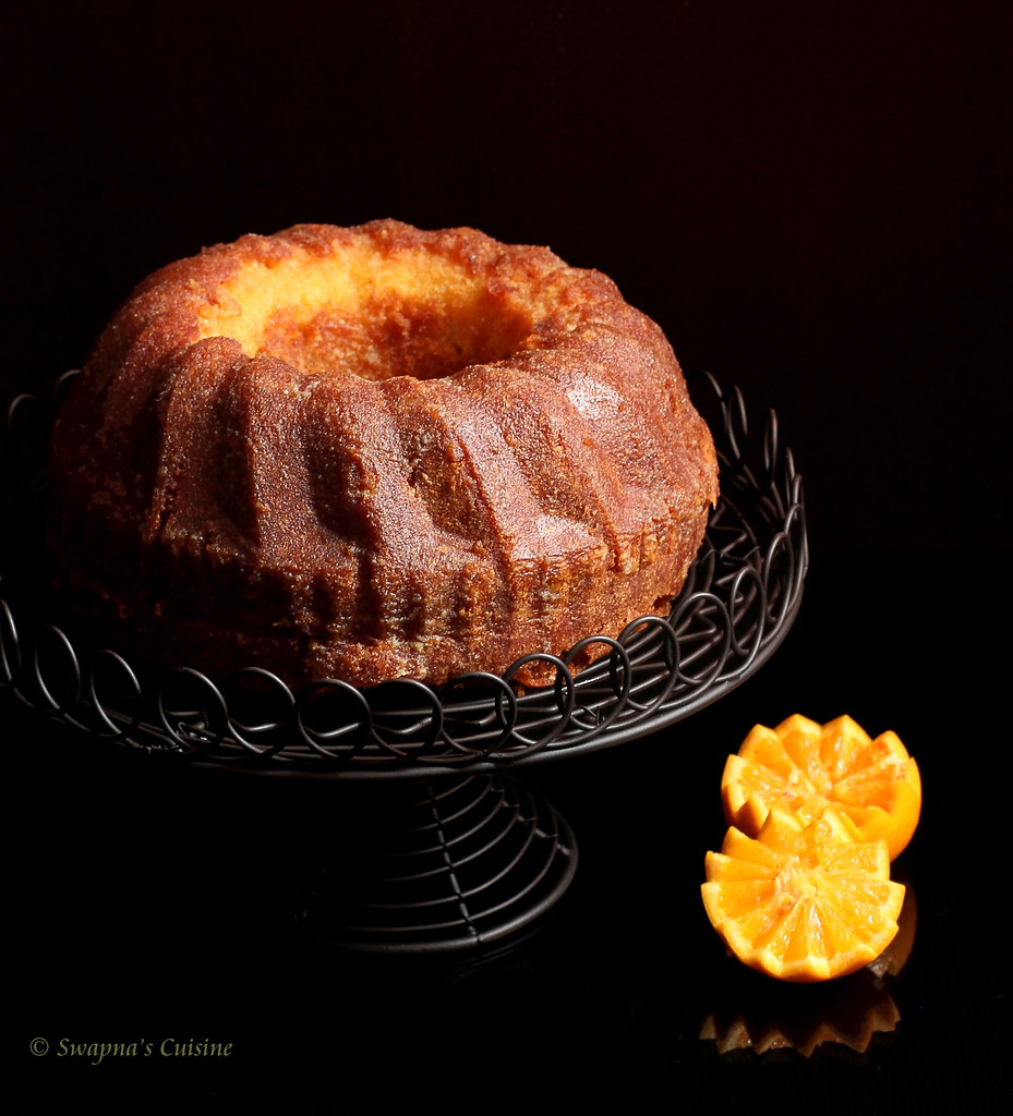 Swapna S Cuisine Orange Soaked Bundt Cake