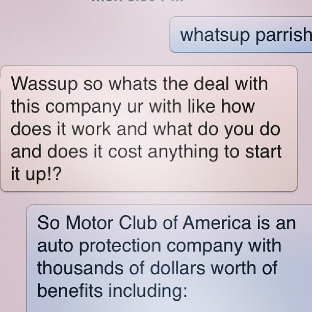 I like it when get messages like this SERIOUS INOUIRIES ON