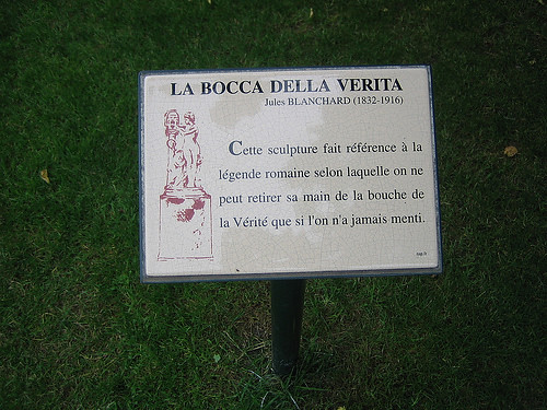 IMG_8072 - La Bocca della Verità, statue by Jules Blanchard, Jardin du Luxembourg, Paris