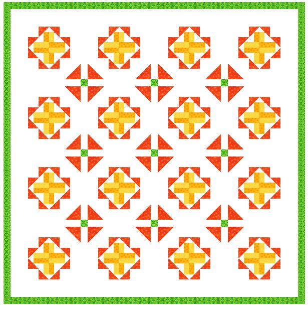 double crossed quilt layout 2
