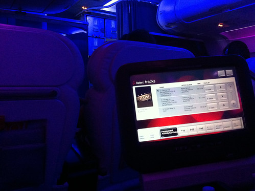 In-Flight Entertainment - Virgin America First Class