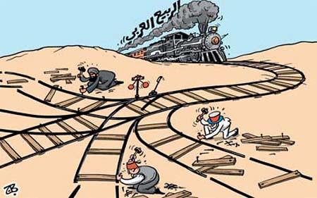 arabisk forår som tog