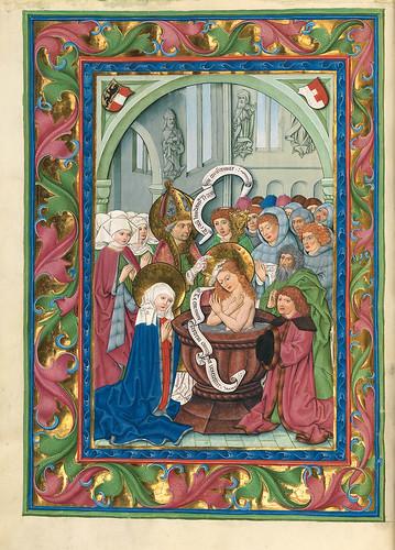 013-Bautismo-Misal de Salzburgo-1499-Tomo 4-Biblioteca Estatal de Baviera (BSB)