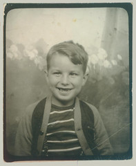 Photobooth boy with grin