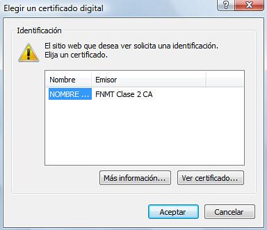 Petición de certificado digital