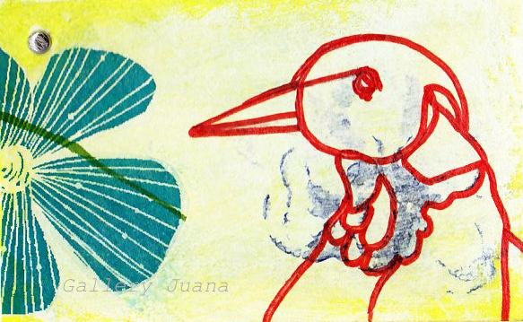 bird mail art