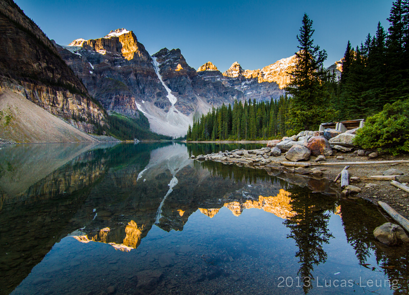 Perfect reflection at Moraine lake