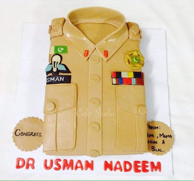 Dr Captain Cake for an Army doctor by Sania Yousaf of Cake Studio