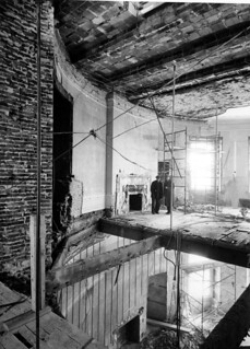 Second Floor Oval Study above Blue Room during the White House Renovation, 03/09/1950