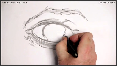 learn how to draw a human eye 006