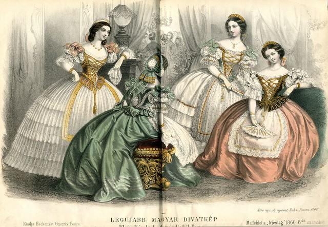 Legujabb magyar divatkép - 1860