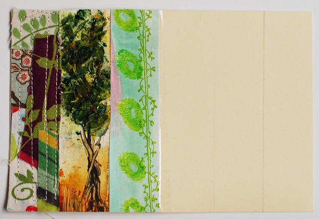 Bonus card: Stripe design + Leaves + Trees