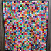 postage stamp quilt finished by wombatquilts