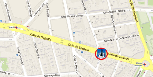 Mapa de situación de U Hostels