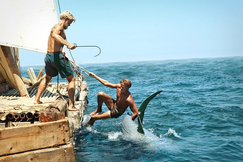 Jakob Oftebro and Tobias Santelmann in Kon-Tiki © Nordisk Film