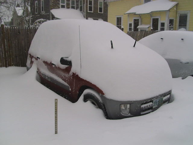 The Toyota, before I dug it out...