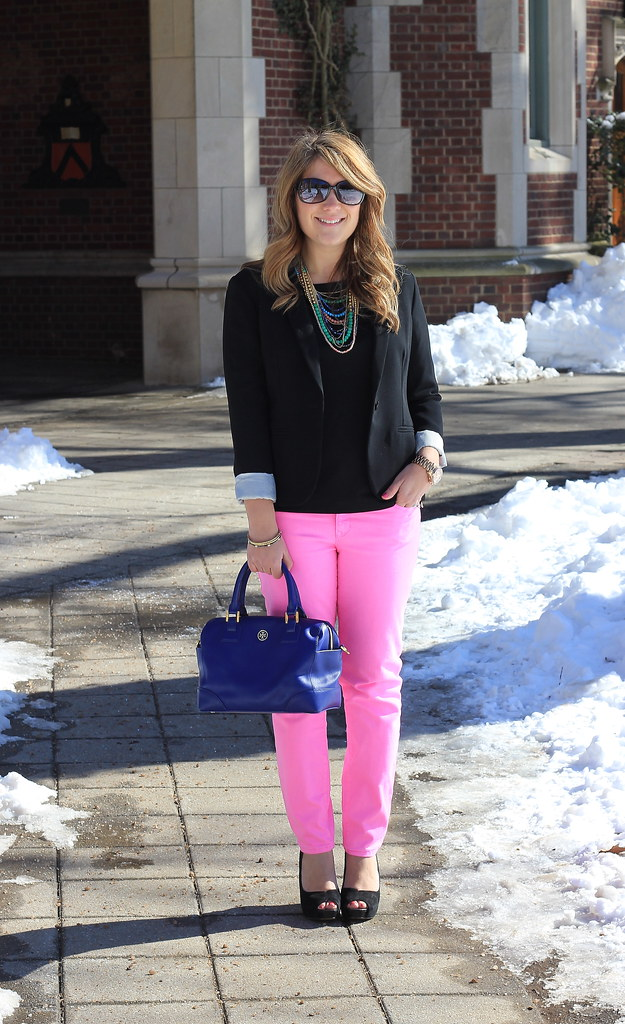 Five Ways to Wear Pink Jeans