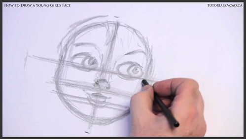 learn how to draw a young girls face 008