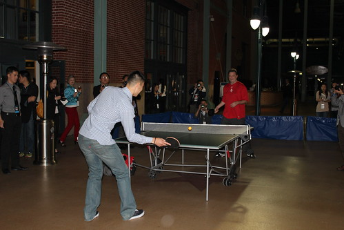 February 14th, 2013 - Jeremy Lin plays table tennis at Jeremy's Foundation charity event