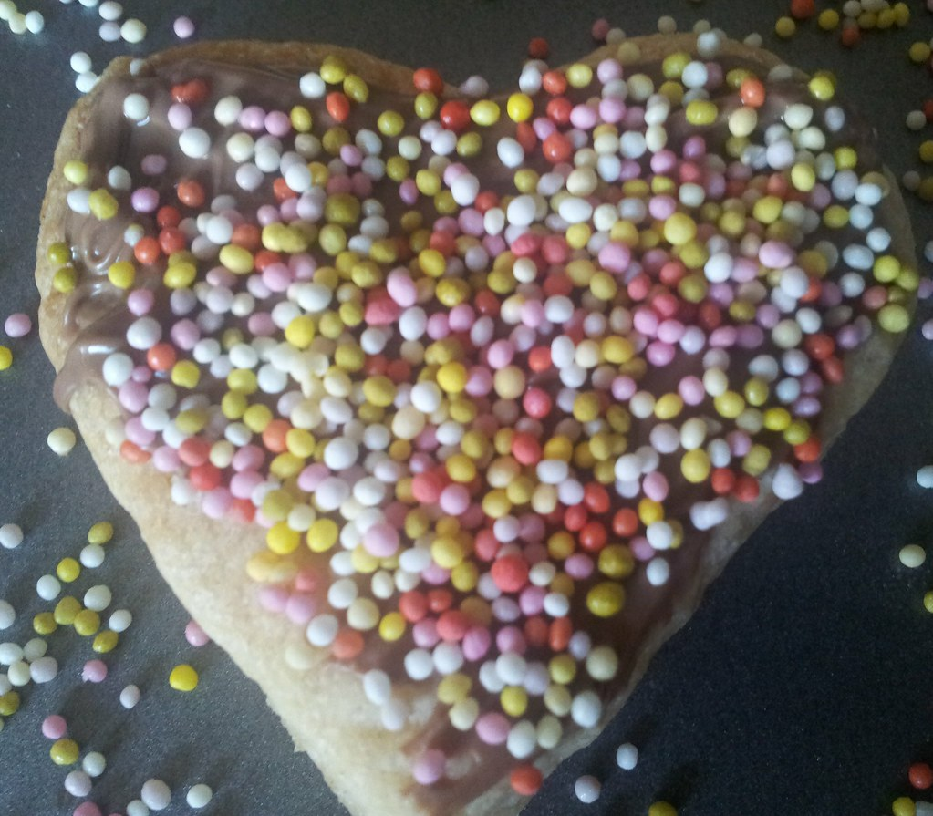, Simple Chocolate Heart Biscuits