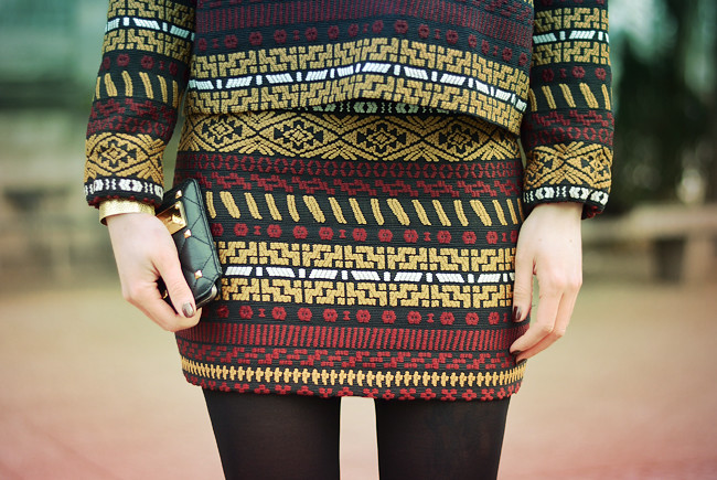 Zara aztec pattern outfit CATS & DOGS Blog 6