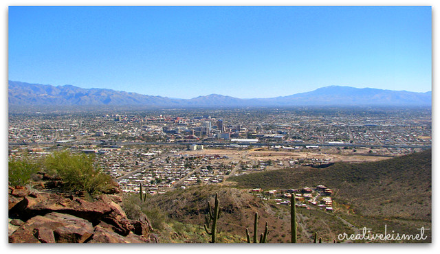 a view of Tucson, AZ