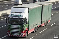 Scania R420 6x4 Curtainside with Drawbar Curtainside Trailer - PX59 BYY - Lola Terese - Eddie Stobart - M1 J10 Luton - Steven Gray - IMG_1303