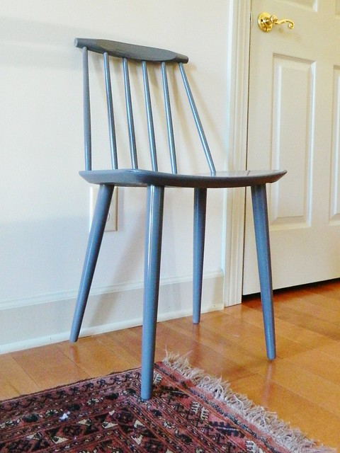 painted danish modern side chair