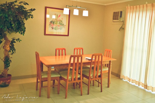 Dining room at Subic Homes