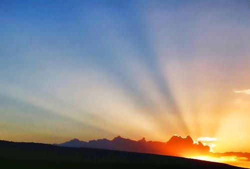 sunset newmexico rays campsite wildrivers questa wildriversrecreationarea lgos2012
