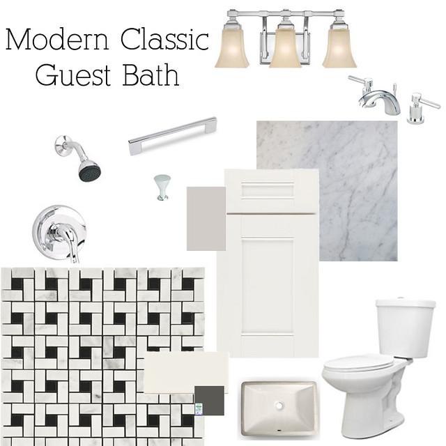 Modern Classic Guest Bath
