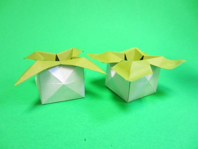 leaf pot origami flickr photo sharing. Black Bedroom Furniture Sets. Home Design Ideas