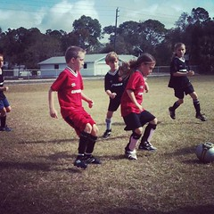 Go Wildcats! Walker & T are on the move #upward #soccer #outdoors #sports