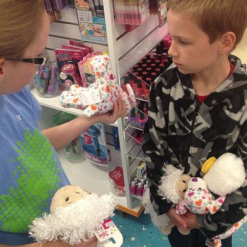 Webkinz debates at the cash register.