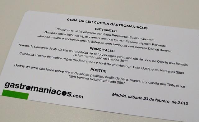 Cena Taller Gastroexperiencia Gastromaniacos 20130222 084