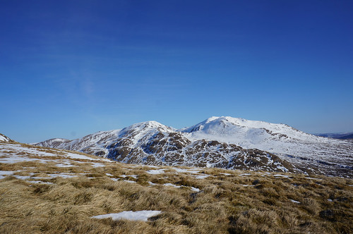Looking East from the South shoulder of Meall nan Tarmachan towards Beinn Ghlas