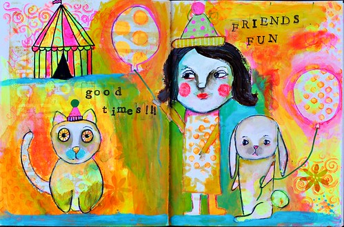 Neon Circus Art Journal