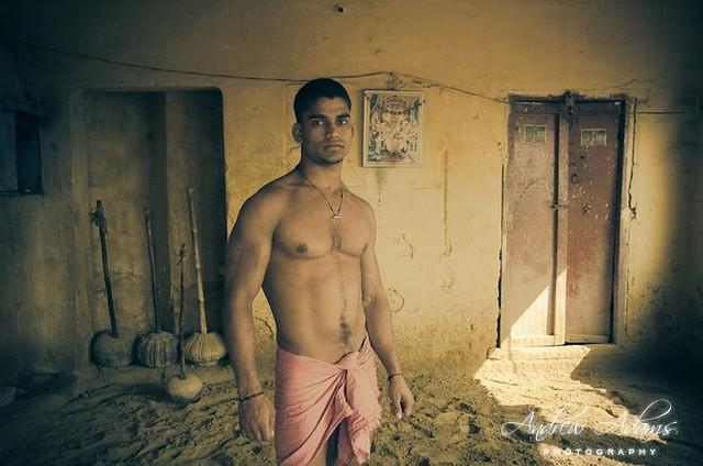 Guys wearing sarongs see their penises