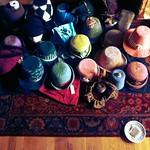 Daily progress shot of the Hat Cave - hats for Jane Austen Fest 2013 janeaustenpgh.org #HatterAtLarge