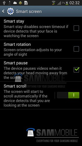 Samsung Galaxy S4 Smart Screen