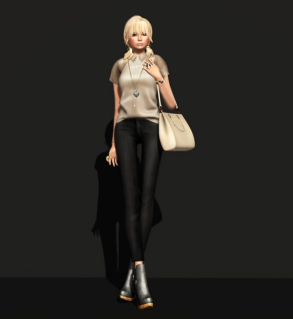C88 Feb -ISON - detzel leather shirt -S- (tan) & COLORMEFOX