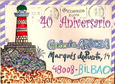 Cartel del 40 aniversario de Aritza.