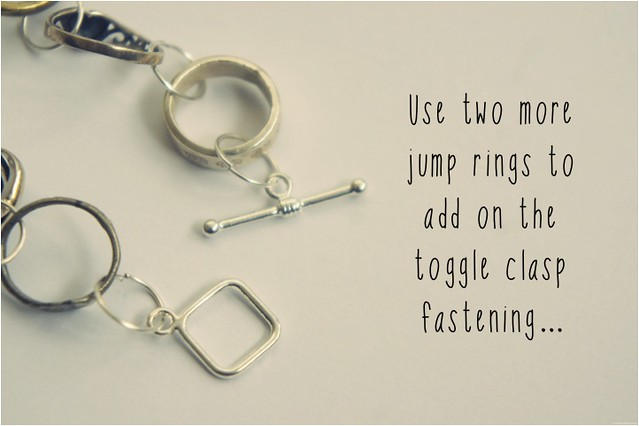 diy bracelet of rings 8