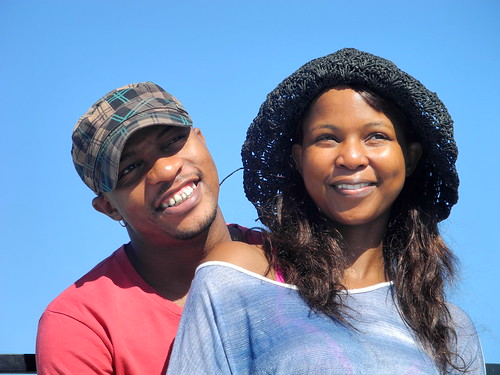 Couple at Moses Mabhida Stadium (by Queenie)